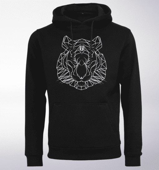 White - Spirit Animal Tiger Unisex-Hoody - Schwarz 1