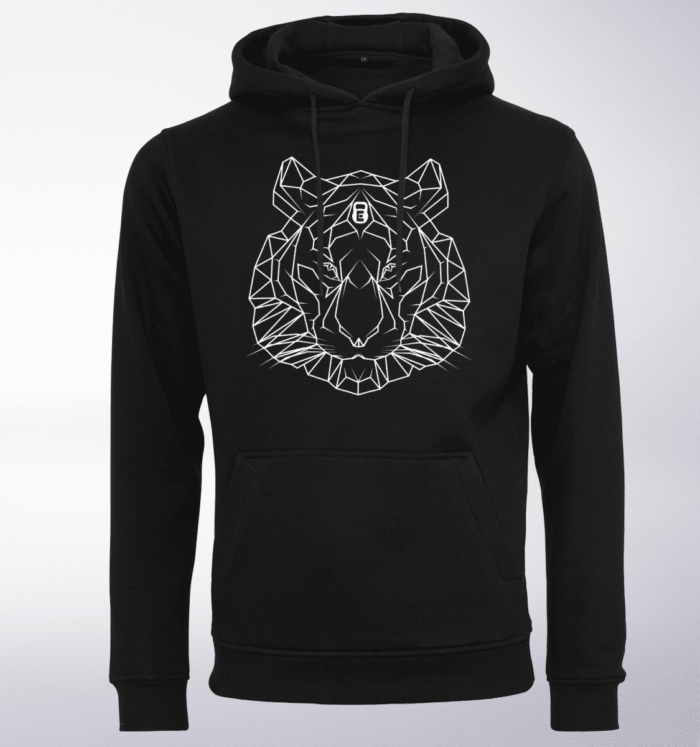 White - Spirit Animal Tiger Unisex-Hoody - Schwarz 1