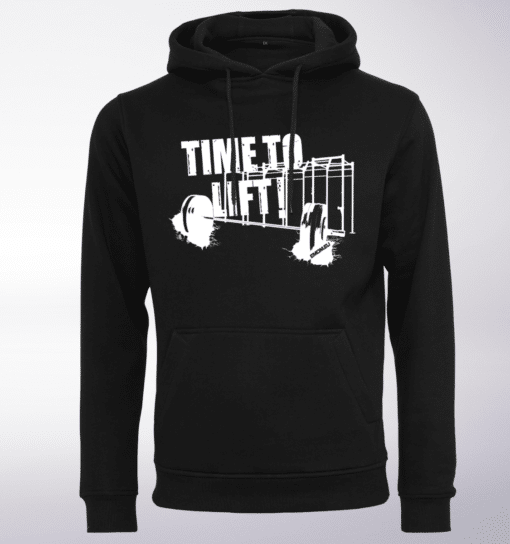 White - Time to Lift! Unisex- PremiumHoody - Schwarz