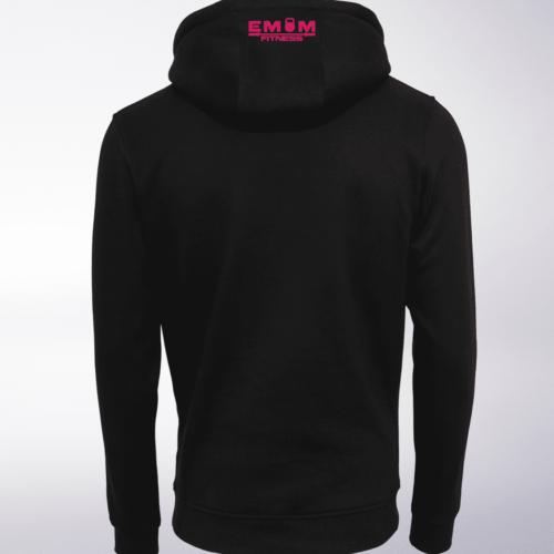 Pink - EMOM Logo Unisex- PremiumHoody - Schwarz 4
