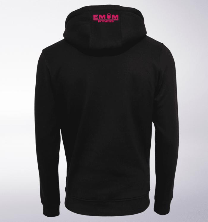 Pink - EMOM Logo Unisex- PremiumHoody - Schwarz 2