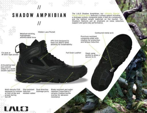 "LALO –  SHADOW AMPHIBIAN 5"" BLACK OPS"