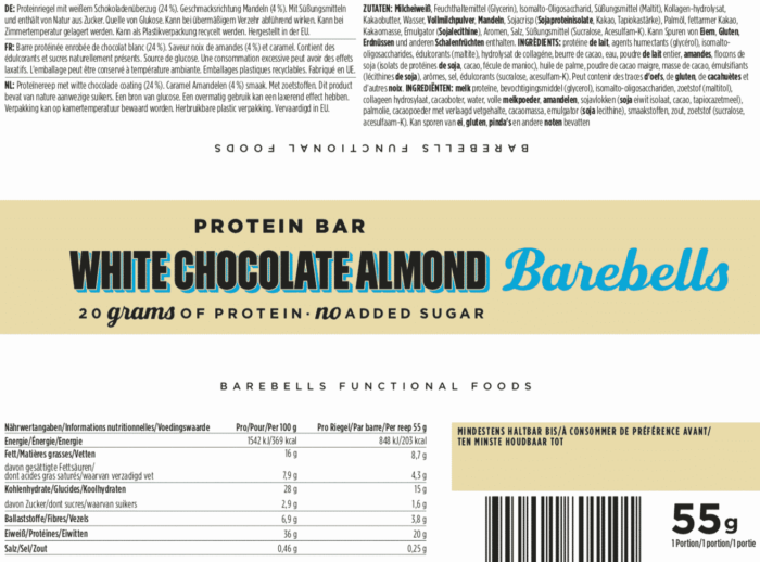 Barebells - Riegel - White Chocolate Almond - Protein Bar 2
