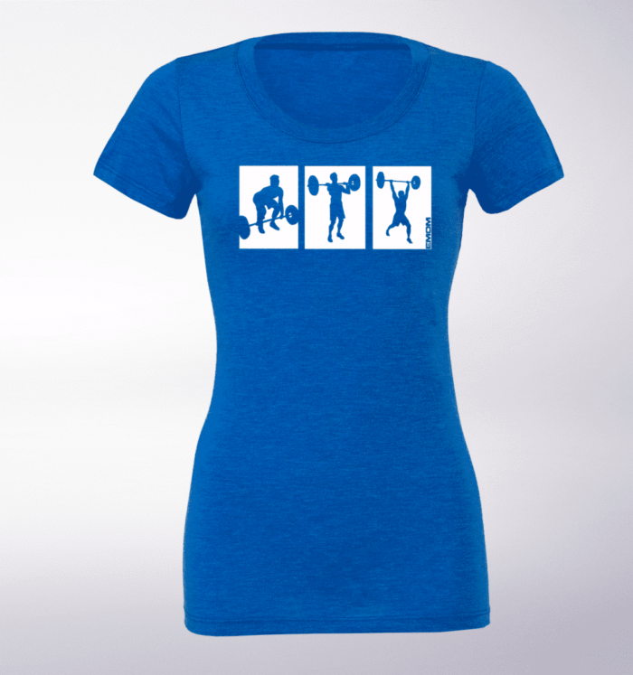 White - 3-Kasten CleanJerk Damen-Shirt - Blau 1