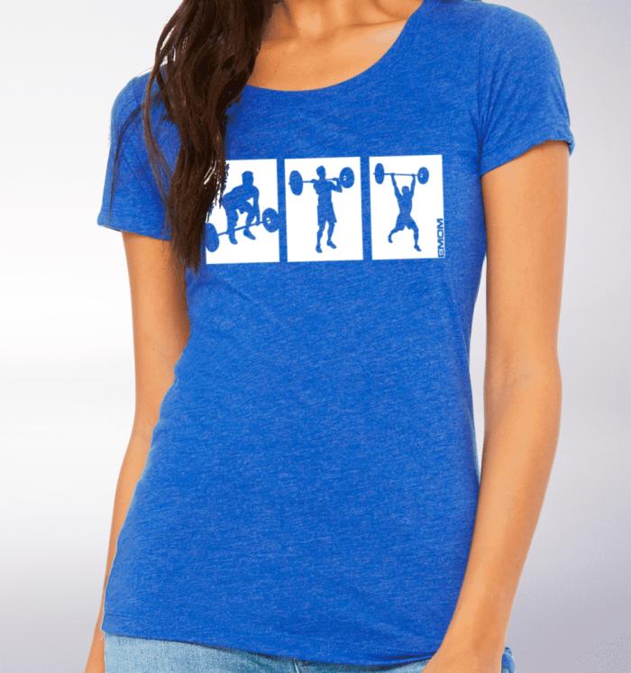 White - 3-Kasten CleanJerk Damen-Shirt - Blau 2