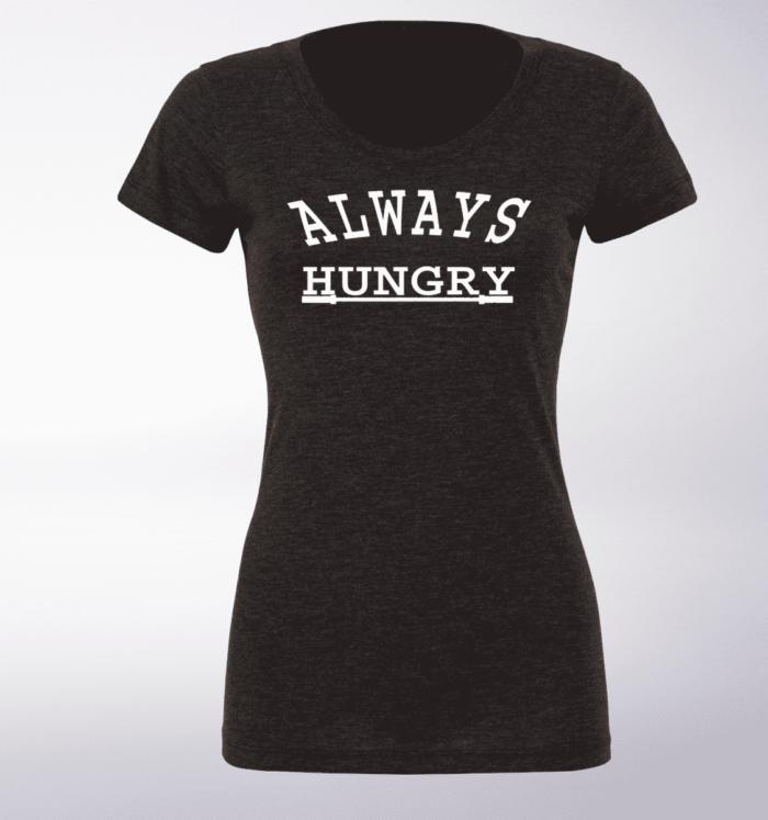 White - Always Hungry Damen-Shirt - Dunkelgrau 1