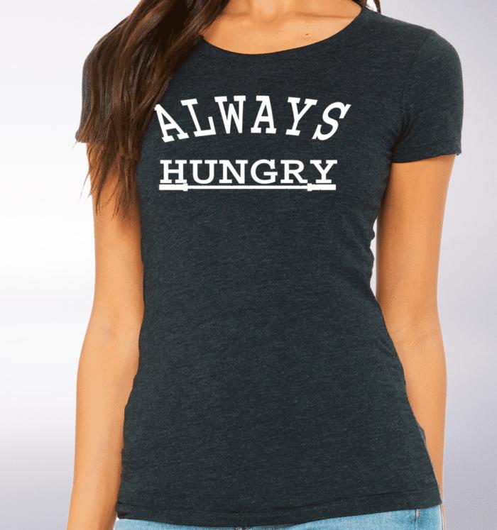 White - Always Hungry Damen-Shirt - Dunkelgrau 2
