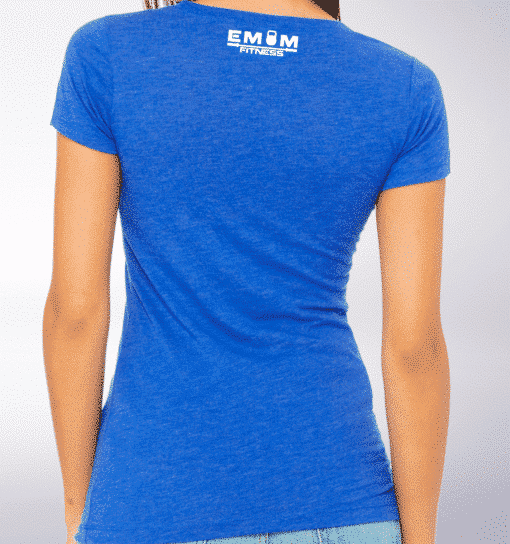 White - Barbell & Coffee Damen-Shirt - Blau 3