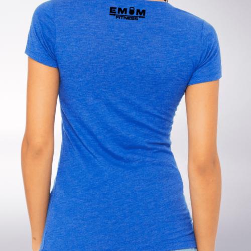 Black - Barbell & Coffee Lady Damen-Shirt - Blau 5