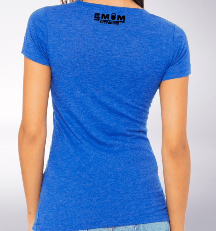 Black - Barbell & Coffee Lady Damen-Shirt - Blau 3