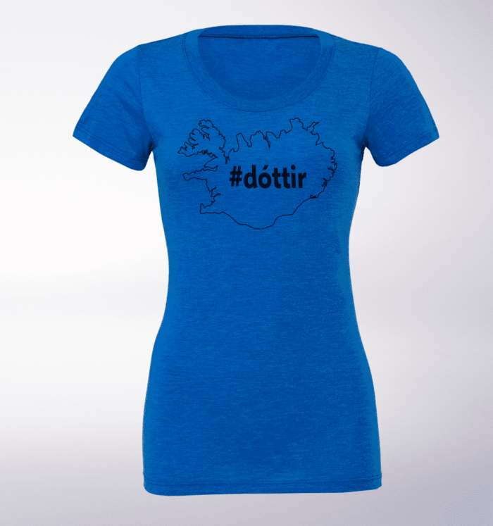 Black - Dottir Damen-Shirt - Blau 1
