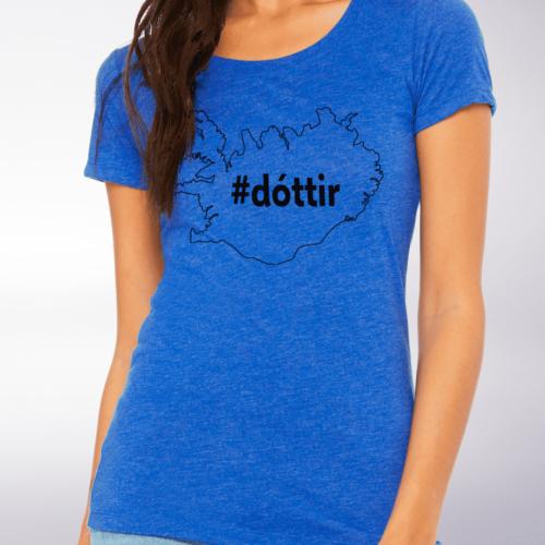 Black - Dottir Damen-Shirt - Blau 4