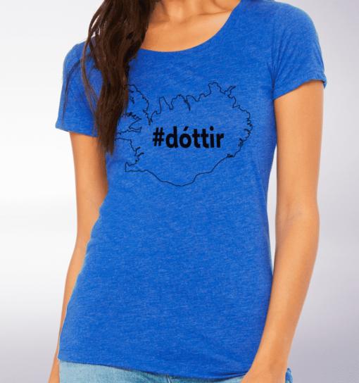 Black - Dottir Damen-Shirt - Blau 2