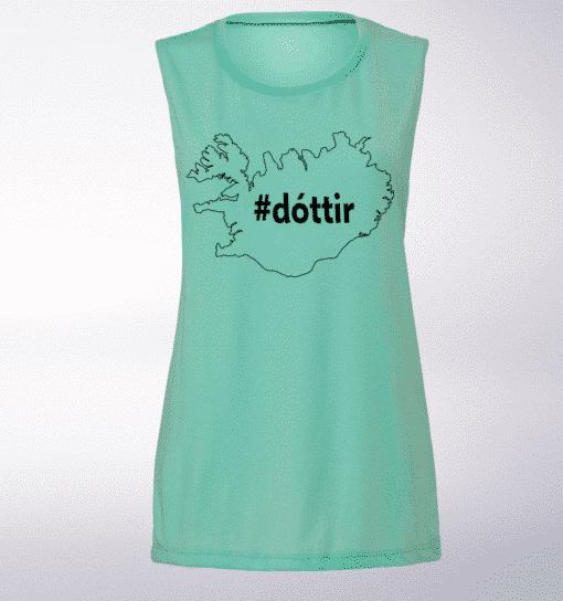 Black Dottir ICELAND Loose Muscle Tank Damen - Mint