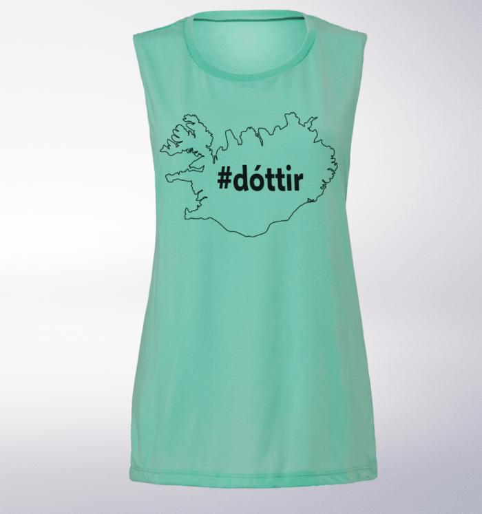 Black Dottir ICELAND Loose Muscle Tank Damen - Mint 1