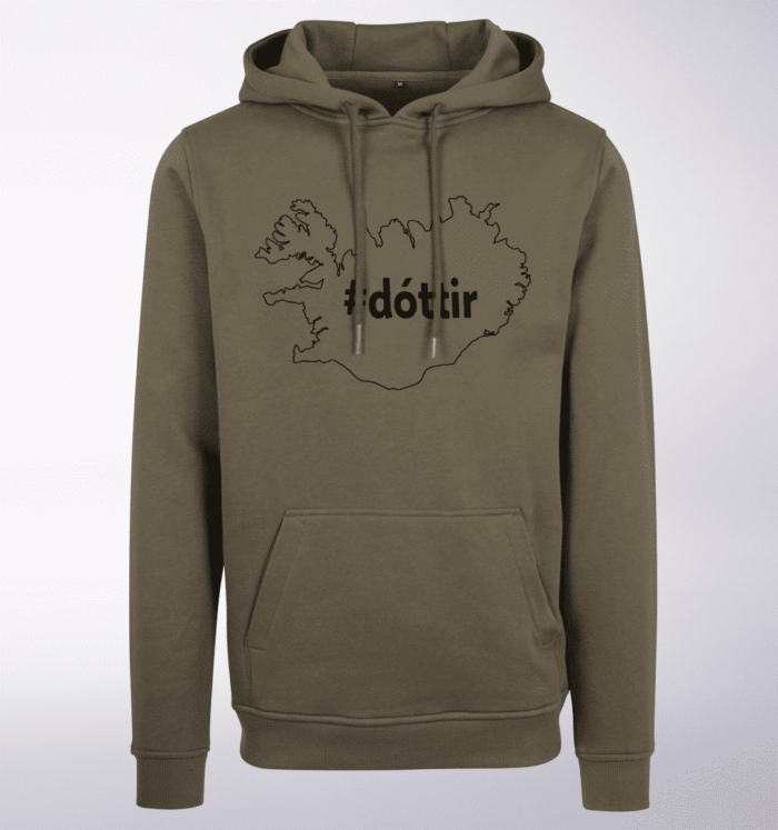 Black - dottir ICELAND Unisex- PremiumHoody - Oliv 1