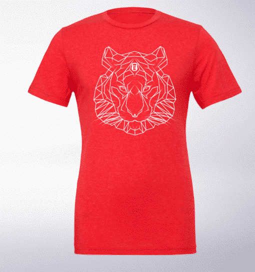 Spirit Animal - Tiger T-Shirt Herren - Rot