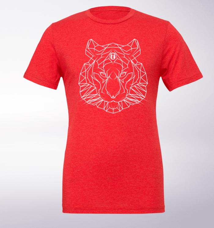Spirit Animal - Tiger T-Shirt Herren - Rot 1