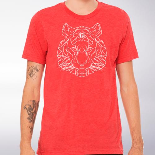 Spirit Animal - Tiger T-Shirt Herren - Rot 4