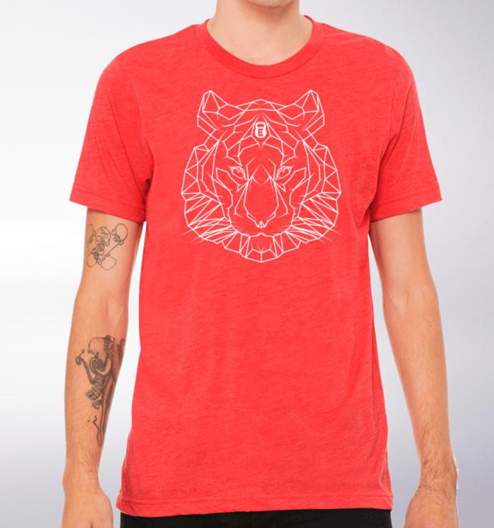 Spirit Animal - Tiger T-Shirt Herren - Rot 2