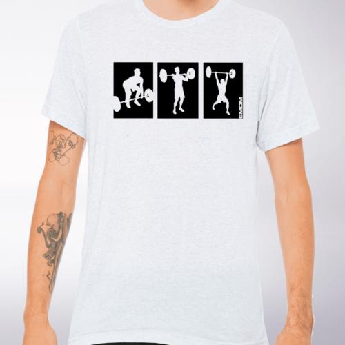 3-Kaste-Clean&Jerk T-Shirt Herren - WeißHeather 4