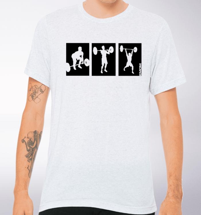 3-Kaste-Clean&Jerk T-Shirt Herren - WeißHeather 2