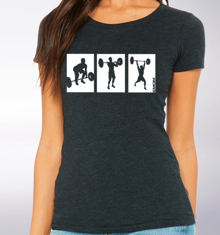 White - 3-Kasten-Clean Damen-Shirt - Dunkelgrau 2