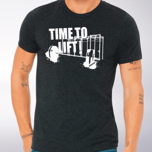 Time to Lift! T-Shirt Herren - Dunkelgrau 4
