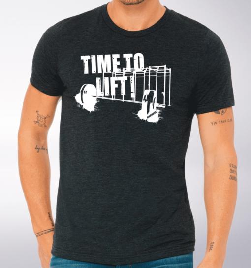 Time to Lift! T-Shirt Herren - Dunkelgrau
