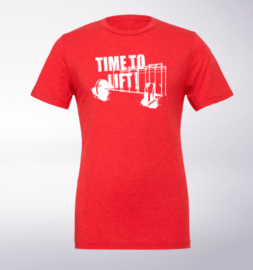 Time to Lift! T-Shirt Herren Shirt - Rot