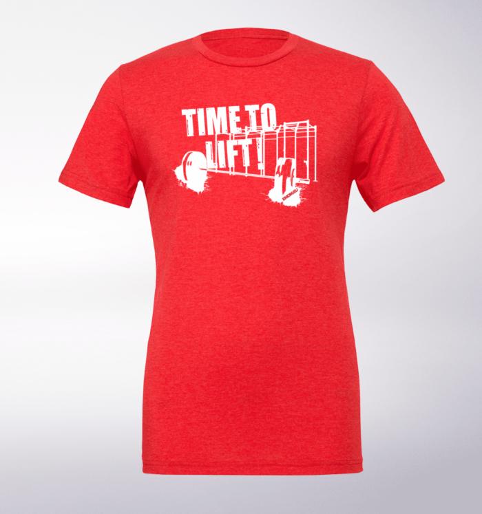 Time to Lift! T-Shirt Herren Shirt - Rot 1
