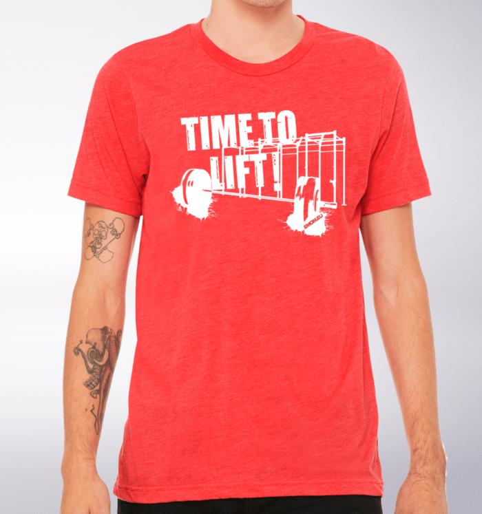 Time to Lift! T-Shirt Herren Shirt - Rot 2