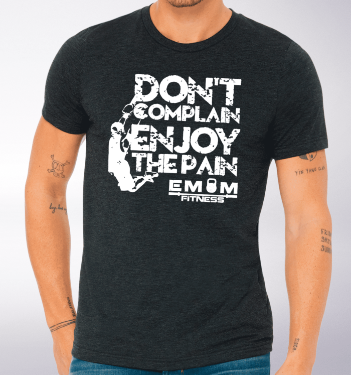 White - Dont Complain Man T-Shirt Herren - Dunkelgrau 2