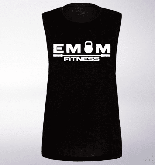 EMOM Fitness Loose Muscle Tank Damen - Black