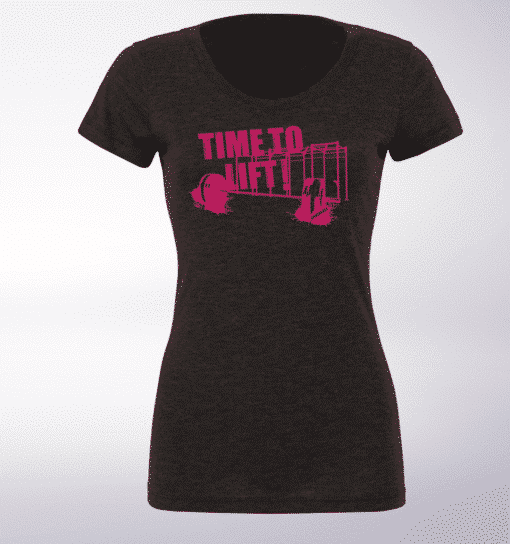 Pink - Time to Lift!  Damen-Shirt - Dunkelgrau