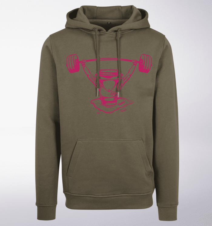 Pink - Coffee&Barbell Lady Unisex- PremiumHoody - Oliv 1
