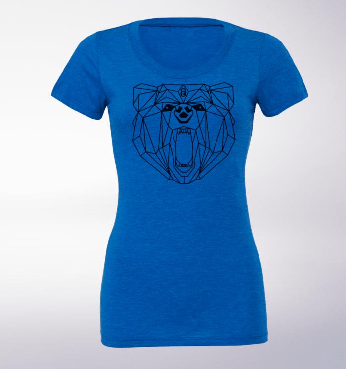 Black - Spirit Animal Bär Damen-Shirt - Blau 1