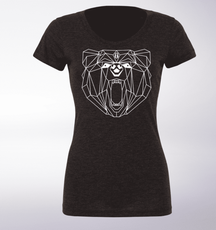 White - Spirit Animal Bär Damen-Shirt - Dunkelgrau 1