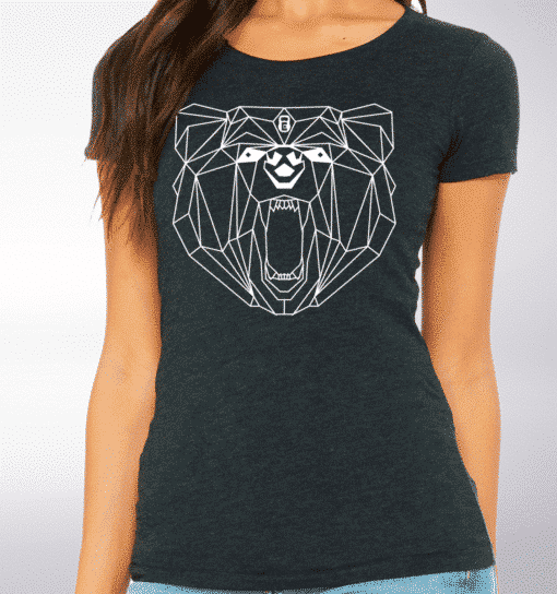 White - Spirit Animal Bär Damen-Shirt - Dunkelgrau 2