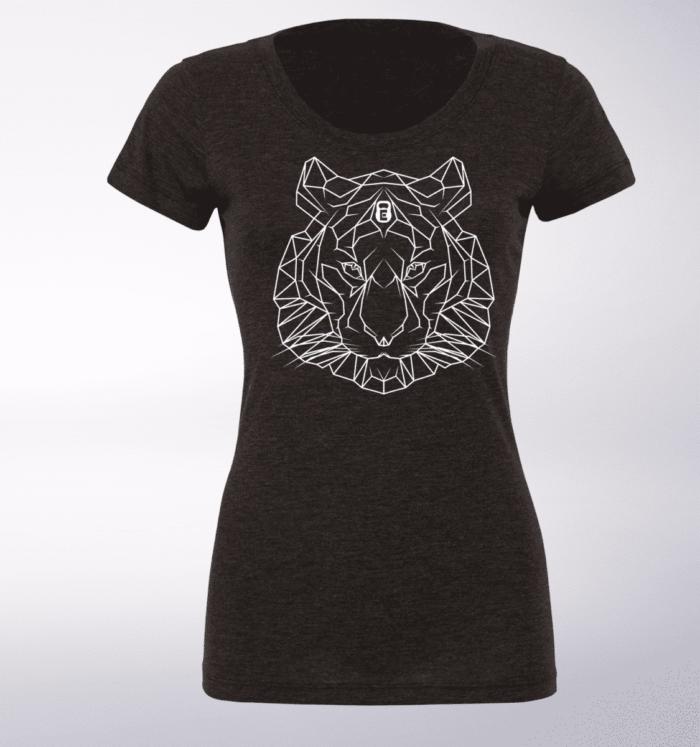 White - Spirit Animal Tiger Damen-Shirt - Dunkelgrau 1