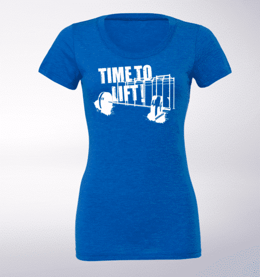 White - Time to Lift! Damen-Shirt - Blau 1
