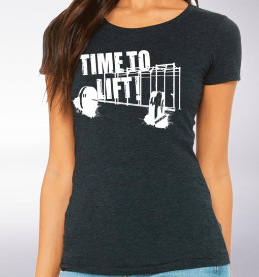 White - Time to Lift! Damen-Shirt - Dunkelgrau 2