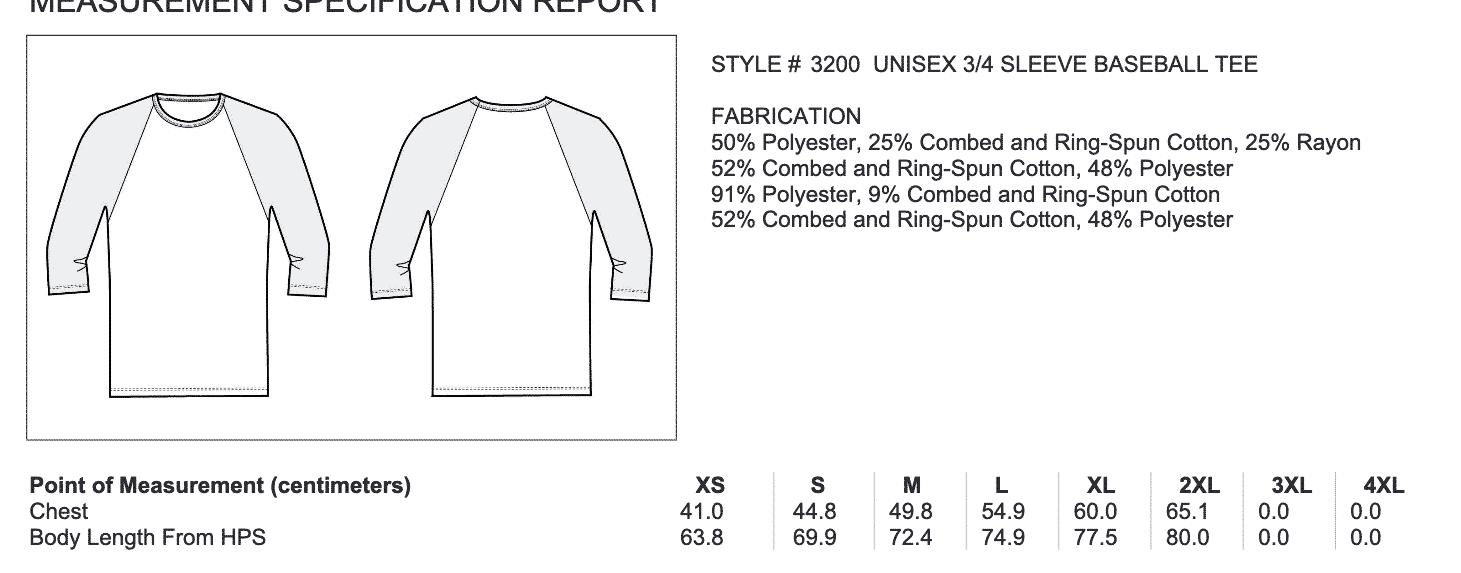 Crossfit®KH Unisex 3/4 Sleeve - Logo vorne & hinten 8