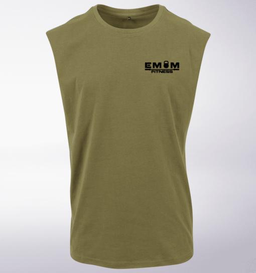 Black - Barebell & Coffee hinten Man MuscleTank - Herren - Oliv 2