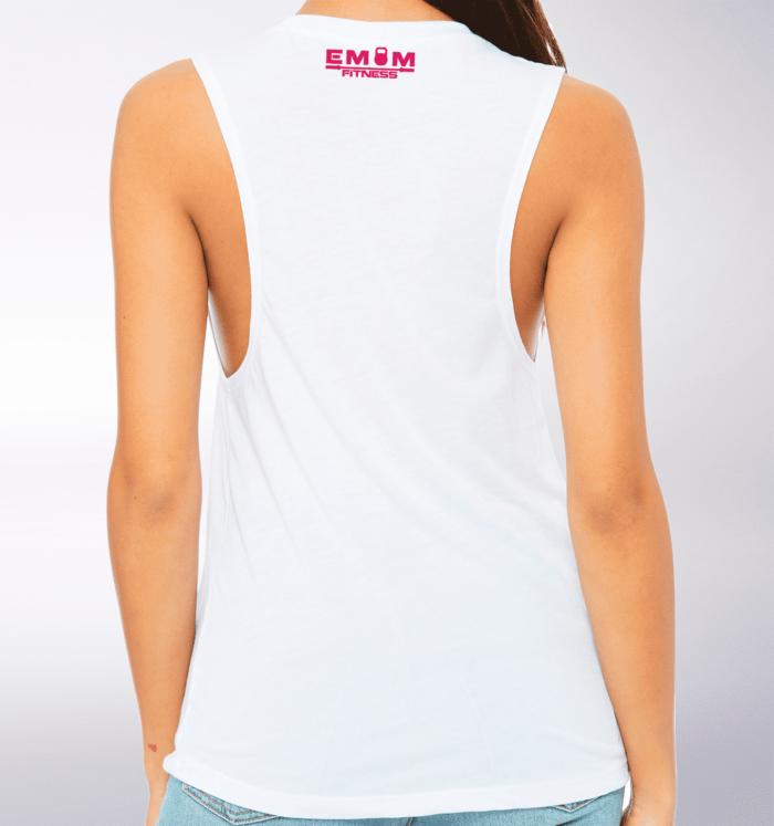 Pink Time to Lift! Loose Muscle Tank Damen - White 3