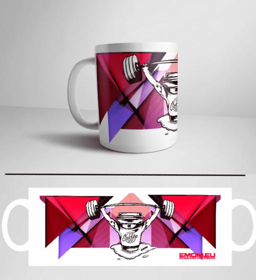 Barbell & Coffee Athleten Kaffeetasse für dein Kaffee oder Tee in deiner Box by EMOM Fitness®