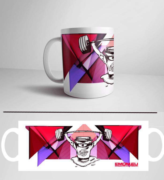 Barbell & Coffee Athleten Kaffeetasse für dein Kaffee oder Tee in deiner Box by EMOM Fitness® 1