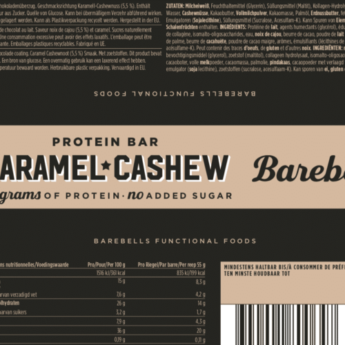 Barebells - Riegel - CARAMEL CASHEW- Protein Bar 3