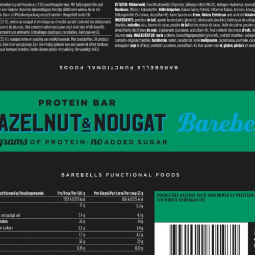 Barebells - Riegel - HAZELNUT & NOUGAT - Protein Bar 3