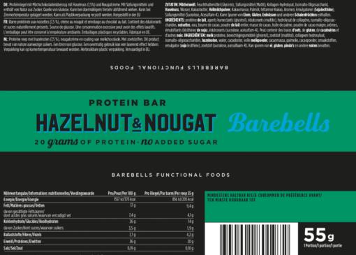 Barebells - Riegel - HAZELNUT & NOUGAT - Protein Bar 2